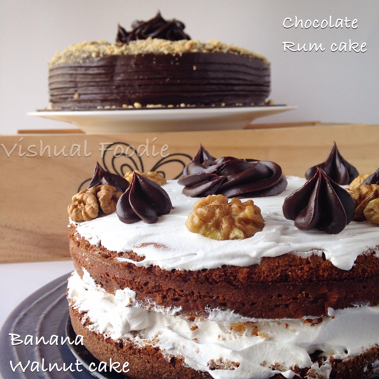 Moms Birthday Cakes Chocolate Rum And Banana Walnut