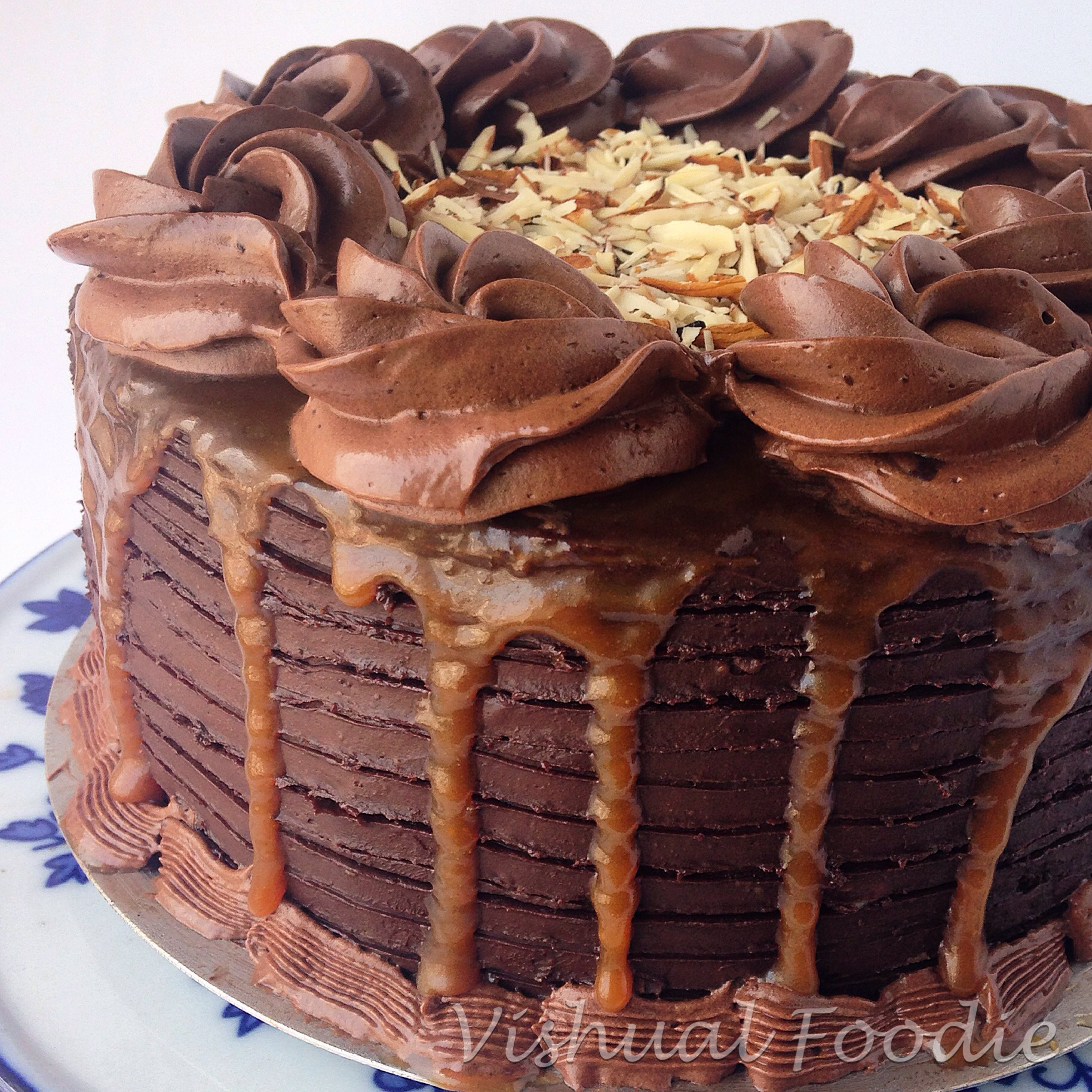 Chocolate Cake Caramel Filling Chocolate Ganache