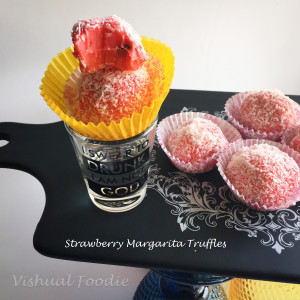 Strawberry Margarita Truffles