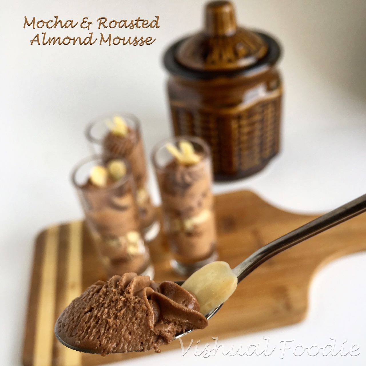 Mocha Mousse With Roasted Almonds